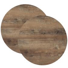 Atacama Cherry Wood Look 70cm Round Tabletops (Set of 2)
