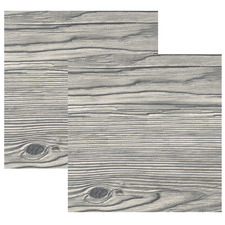 Grey Spruce Wood Look 80cm Square Tabletops (Set of 2)