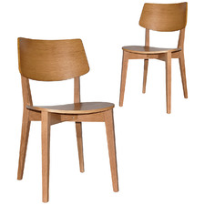 Bentley American Oak Dining Chairs (Set of 2)