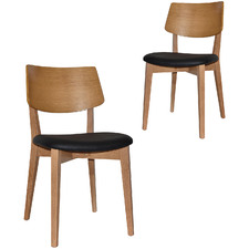 Bentley Dining Chairs with Black Vinyl Seat (Set of 2)