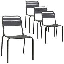 Harper Metal Dining Chairs (Set of 4)