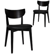 Tennyson Dining Chairs with Black Vinyl Seat (Set of 2)