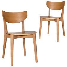 Tennyson American Oak Dining Chairs (Set of 2)