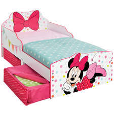 Minnie Mouse Kids Toddler Bed with Storage