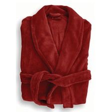 Microplush Robe in Red