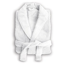 White Microplush Robe