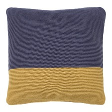 Dimity Cushion Filled Slate Ochre