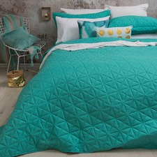 Queen - King Turquoise Regent Coverlet Set