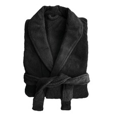 Microplush Robe in Black