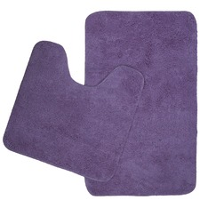 Retreat 2 Piece Microplush Bath Mat Set Purple