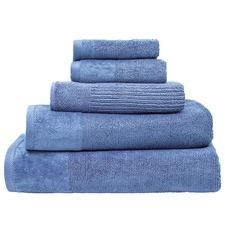 Cornflower Costa Cotton Bathroom Towels