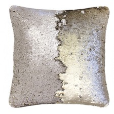 Shimmer Champagne & Gold Square Cushion