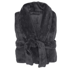 Charcoal Microplush Robe