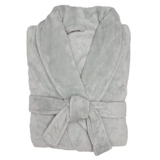 Silver Microplush Robe