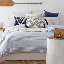 Nautical Yarn Dyed Cotton Quilt Cover Set