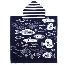 Fishy Wishy Printed Poncho Kids Pal