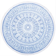 Oliana Printed Cotton Round Towel