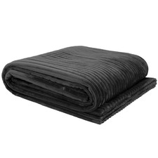 Charcoal Channel Throw