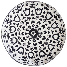 Monochrome Salta Round Cushion