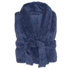 Denim Microplush Robe
