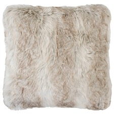 Angora Faux Fur Square Cushion