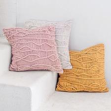 Dune Cotton Macramé Cushion