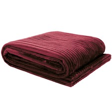 Velour Stripe Channel Throw