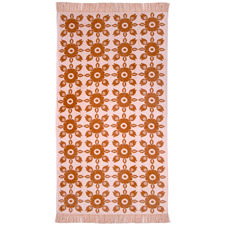 Rust & Peach Prevelly Cotton Beach Towel