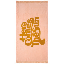 Mustard & Peach The Sun Cotton Beach Towel