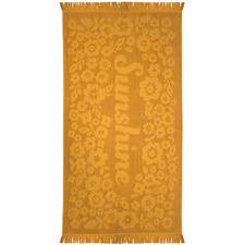 Ochre Sunshine Express Cotton Beach Towel
