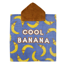 Printed Cool Banana Cotton Poncho Pal