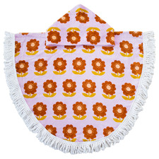 Floral Zinnia Shaped Cotton Poncho