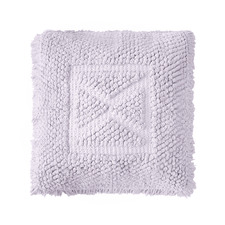 Lilac Asscher Square Cotton Cushion
