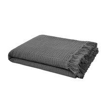 Charcoal Lys Cotton Throw