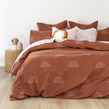 Terracotta Arco Cotton Quilt Cover Set