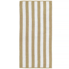 Mocha Cabana Stripe Beach Towel