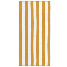 Yellow Cabana Stripe Beach Towel