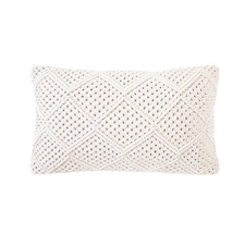 Ivory Anka Rectangular Cotton Cushion