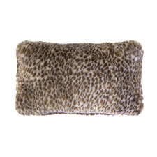 Leopard Rectangular Faux Fur Cushion