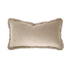 Fringed Cotton Velvet Breakfast Cushion
