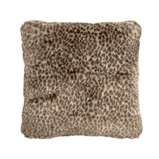 Leopard Square Faux Fur Cushion