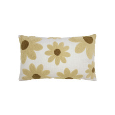 Daisy Floral Rectangular Cushion