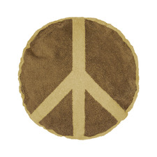 Peace Round Cotton Cushion
