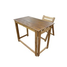 Hardwood Foldable Teen Desk Set