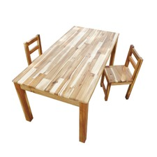 Hardwood Rectangular Table and Standard Chairs