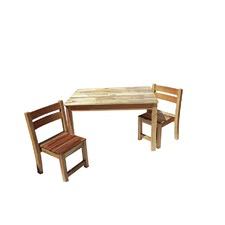Study Desk and 2 Chairs Set