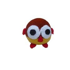 Crocheted Little Owl Toy