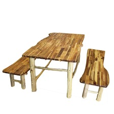 Large Tree Table and Bench Set