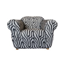 Statement Prints Zebra 1 Seater Chair Cover