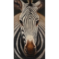 Canvas Covered MDF Zebra Wall Art